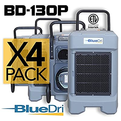 BlueDri® BD-130P 225 PPD High Performance Industrial Commercial Dehumidifier Gray