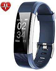 Willful Fitness Armband mit Pulsmesser,Wasserdicht IP67 Fitness Tracker Aktivitätstracker Pulsuhr Smartwatch Schrittzähler Fitness Uhr mit Vibrationsalarm Anruf SMS Whatsapp für iPhone Android Handy