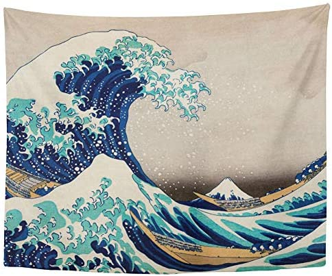 The Great Wave Japan Tapestry