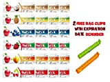 That's It Bar,6 Flavor Sampler,Variety pack of 24 (4 Apple+Apricot , 4 Apple+Strawberry ,4 Apple+ Blueberry, 4 Apple+ Coconut, 4 Apple+ Cherry, 4 Apple+ Pineapple), BONUS!! 2 BAG CLIPS FREE