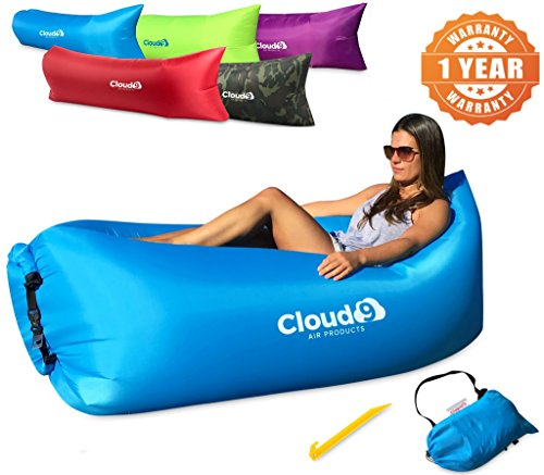 cloud-9-air-products-tm-premium-inflatable-lounger-deluxe-air-hammock-heavy-duty-nylon-1-year-warran