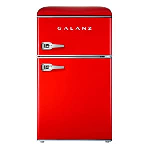 Galanz GLR31TRDER Retro Fridge, 3.1 Cu.Ft, Red