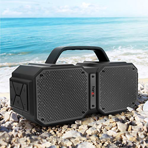 Wireless Outdoor Bluetooth Speaker – Splashproof, Shockproof & Heat-Resistant – Rechargeable Battery for 8 Hours Play Time – Loud HD Sound – 2 Speakers, 2 Tweeters & 2 Bass Valves