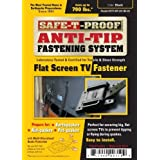 Safe-T-Proof Anti-Tip Fastening System Flat Screen TV Fastener, Black by Safe-T-Proof Disaster Preparedness Company