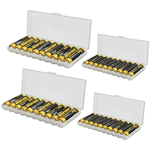 Whizzotech AA AAA Battery Storage Case Holder Organizer Box 2 Each Hold 10 AA AAA ()