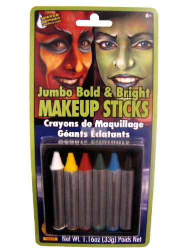[Rubies Jumbo Bold and Bright Makeup Sticks] (Kids Halloween Devil Costumes)