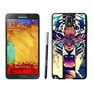 Zhongshen Galaxy Note 3 Case,Samsung Galaxy Note 3 Protective S View Coer Protective Case Tiger Roar Cross Hipster Quote Design for Samsung Galaxy Note 3 Case Black Cover
