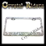 Product review for Bling License Plate Frame with CLEAR Small Crystal Mix Ab Iridescent MADE IN US Clear Metal Chrome Zink Alloy Holder Sparkly Sparkle Custom Hand Made Hand Crafted