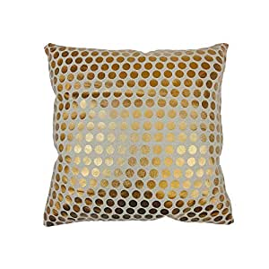 Linen and More Cojín Big Dot Foil Cobre 45x 45cm 100% algodón