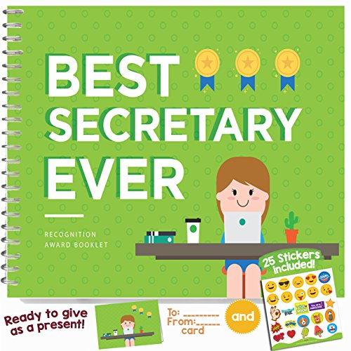 EMPLOYEE APPRECIATION GIFT IDEAS - Recognition Award for the Best Secretary | Booklet with quotes, jokes, frames | Say thank you to administrative professionals, assistants or co-workers in their day