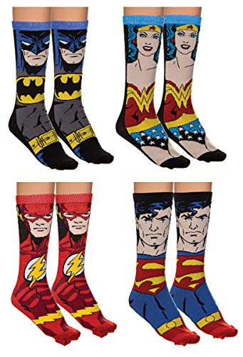 Holiday 4-Pack Jacquard Knit Unisex Crew Socks Gift Sets (Justice -