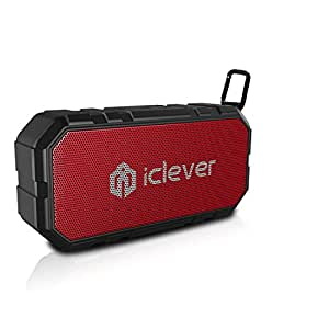 iClever BoostSound IPX5 Splashproof Portable Speaker with Mic 10W Bluetooth V4.2 Speakers with Clip