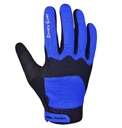 Panegy Unisex Adult Biking Glove Elastic Warm Mitten Deep Blue L