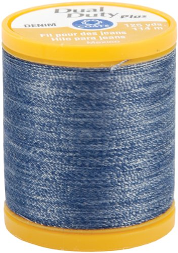 COATS & CLARK S976-4665 Dual Duty Plus Denim Thread, 125-Yard, Denim Blue Denim Jean Fabric