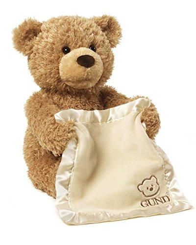 30cm Plush Peek a Boo Teddy Bear Play Hide And Seek Stuffed Teddy Bears Singing Music Bear Baby Kids Birthday Interactive Gift