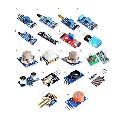 OctagonStar 18pcs Raspberry pi 2 B+ sensor module Board package 18 kinds of sensor Set kit