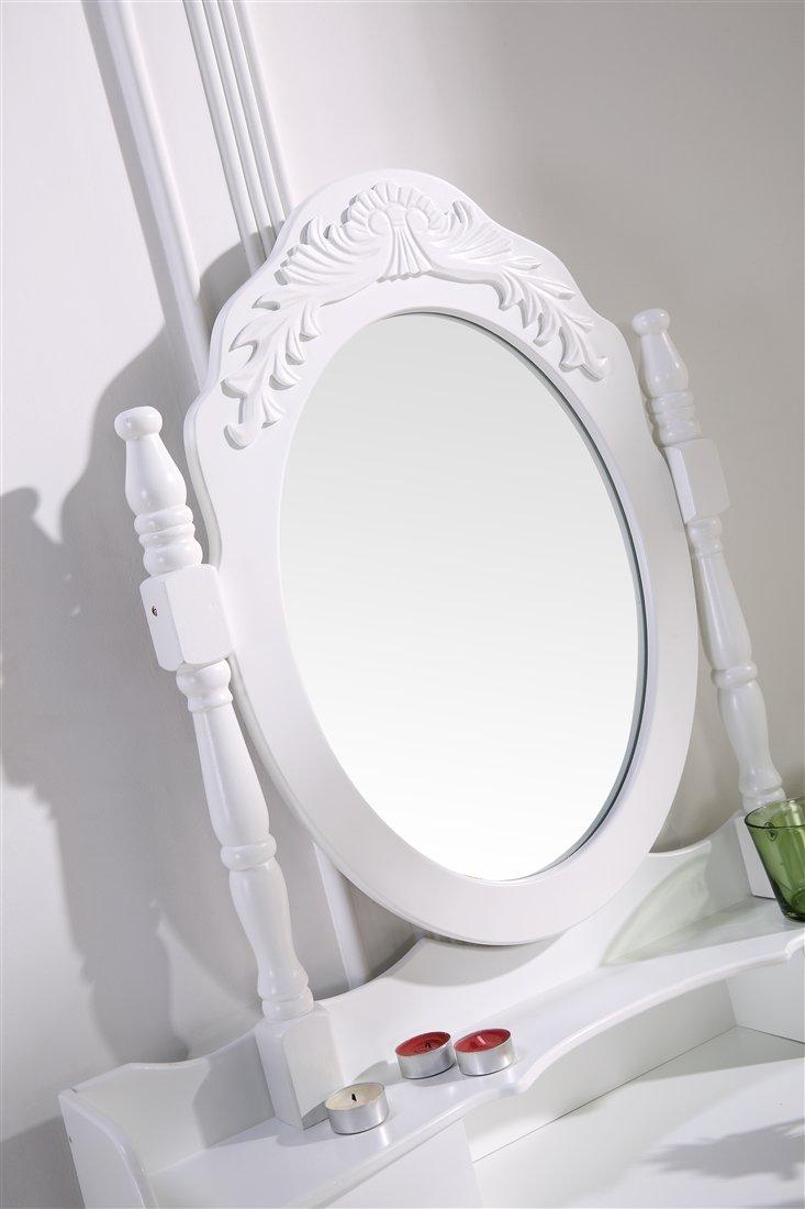 Schminktisch Spiegeltisch Spiegel Inkl. Sitzbank Im Barockstil Weiß #35:  Amazon.de: Küche U0026 Haushalt