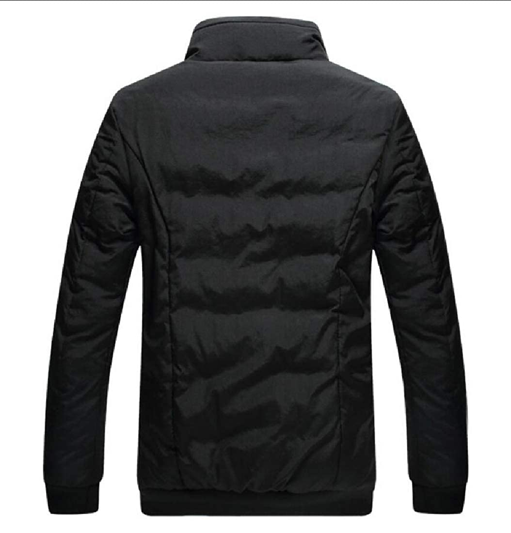 UNINUKOO Unko Mens Coat Winter Warm Lightweight Stand Collar Packable Down Jacket