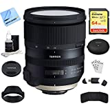 Tamron SP 24-70mm f/2.8 Di VC USD G2 Lens for Nikon Mount (AFA032N-700) with TAP-In Console Lens Accessory, 64GB Memory & Memory Card Reader, Card Wallet, Cleaning Kit and More
