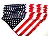 "US American Flag Bandana 12 PIECE LOT BRAND NEW IN PACKAGE THESE MEASURE 22"" X 22"" IF YOU HAVE ANY QUESTIONS PLEASE CONTACT US WE HAVE 1000'S OF THESE IN STOCK"