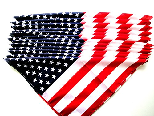 us-american-flag-bandana-22-x-22-12-pieces-wholesale-lot-brand-new-party-favors