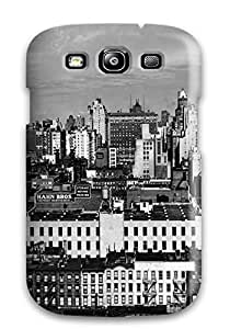 Awesome Photography Black And White Flip Case With Fashion Design For Galaxy S3