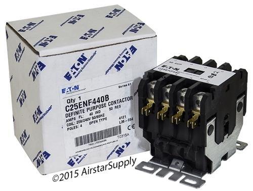 (Eaton / Cutler Hammer C25ENF440B 50mm DP Contactor , 4-Pole , 40 Amp , 240 VAC Coil Voltage)