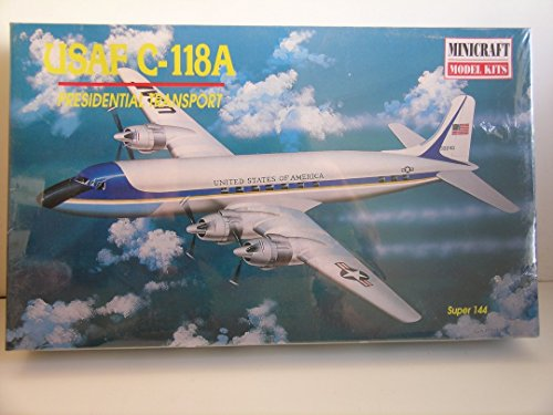 Minicraft Models---1/144 Scale USAF C-118A Presidential Transport--Plastic Model Kit
