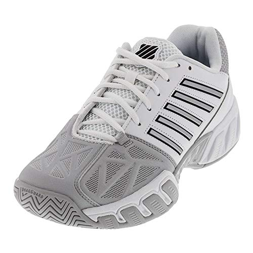 K-Swiss Men's Bigshot Light 3 Tennis Shoes (White/Silver) (10.5 D(M) US)]()