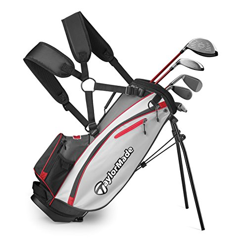 TaylorMade Complete Youth Set W Bag Phenom K40 6Pc/LH R (Unisex, , Graphite Hybrids with Steel Irons) ()