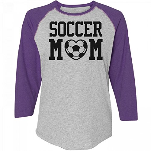Cute Soccer Mom Love Shirts: Ladies Relaxed Fit 3/4 Sleeve Raglan Tee - Womens All Star Rib Raglan