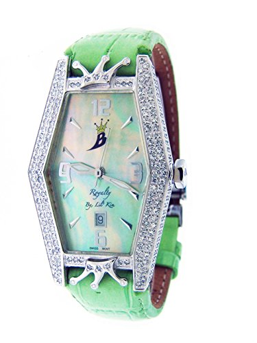 Royalty By Lil' Kim Full Case 2.25ct Diamonds Watch Green Face & Band