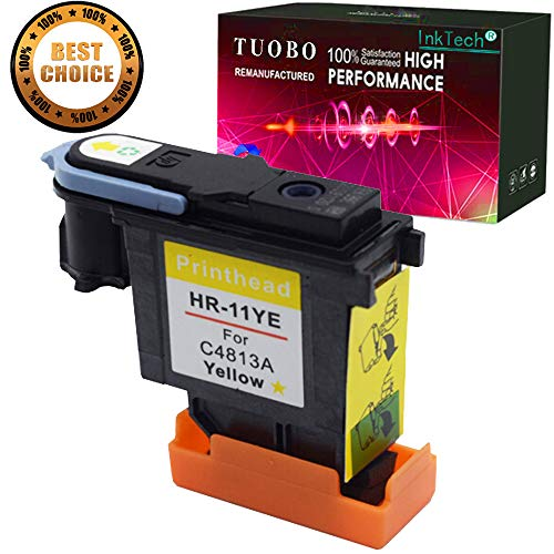 Tuobo Remanufactured Printhead Replacement for 11 Printhead Yellow C4813A Fit for HP Designjet 70 90 100 110 500 510 500ps 800ps 9110 K850 ()
