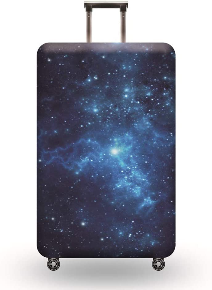Starry Series,#001,M LDIW Travel Luggage Cover Fits 18-32 Inch Luggage Elastic Suitcase Protective Cover Trolley Case Protective Cover