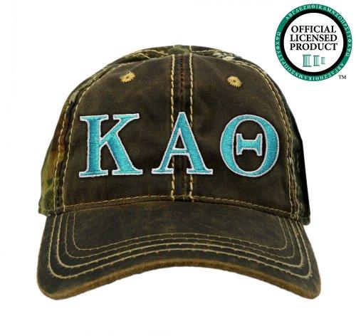 Kappa Alpha Theta (Theta) Embroidered Camo Baseball Hat, Various Colors