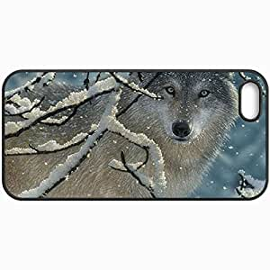 Fashion Unique Design Protective Cellphone Back Cover Case For iPhone 5 5S Case El Lobo Wolf Black
