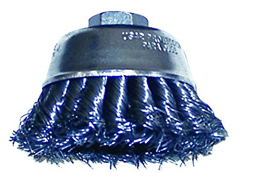 (Shark 14051  5/8-11NC 0.014-Gauge Wire 6-Inch Double Row Knotted Cup Brush)