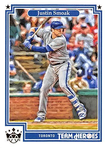 (2019 Diamond Kings Team Heroes Baseball #21 Justin Smoak Toronto Blue Jays Official MLBPA Trading Card From Panini)