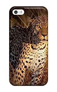 New Case Awesome Defender Tpu case cover For Iphone 5/5s- 1zYXcNa5XsE Intense Focus Leopard