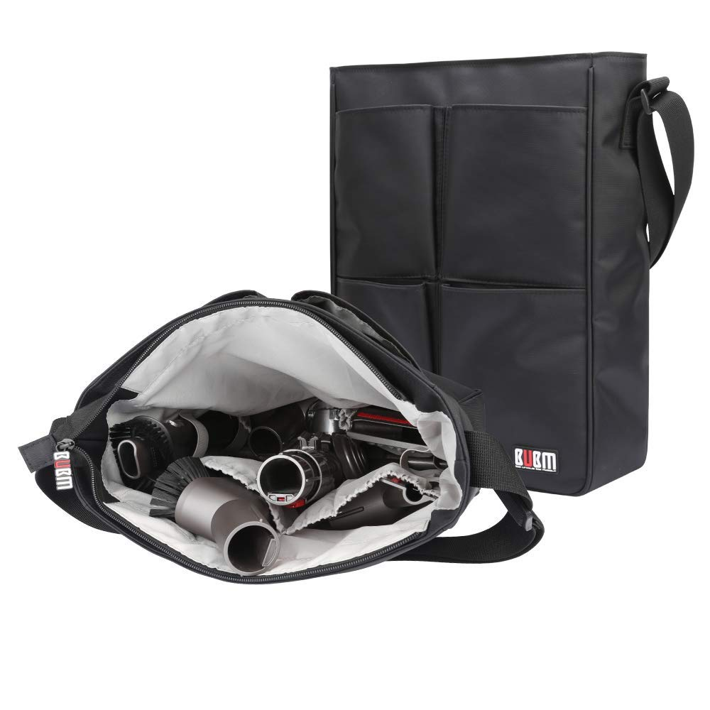 BUBM Dyson Accessory Holder-Hanging Brush Tool Kit Holder Storage Bag Fit for Dyson DC60 V6 V7 V8 Vacuum Cleaner Black