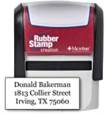 Custom 4-Line Self Inking Return Address Stamp - Up to 4-Line Stamp