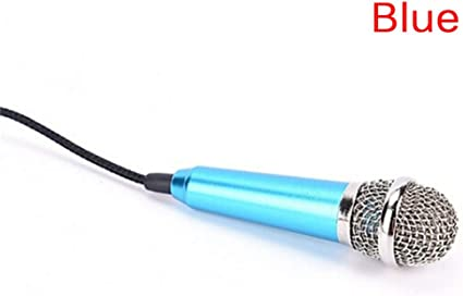 All Smartphone Notebook Portable Mini Microphone Stereo Karaoke Sound Record 3.5Mm Plug,Bl: Amazon.es: Instrumentos musicales