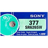 Sony Battery 377 (SR626SW) Silver Oxide 1.55V (5 Batteries Per Pack)