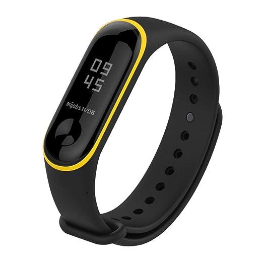Para Xiaomi Mi Band 3, ❤ Manadlian Banda de reloj deportivo de silicona suave