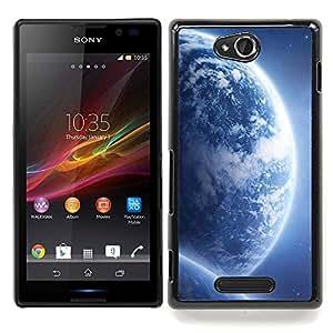 For Sony Xperia C S39h C2305 - Space Planet Galaxy Stars 68 /Modelo de la piel protectora de la cubierta del caso/ - Super Marley Shop -