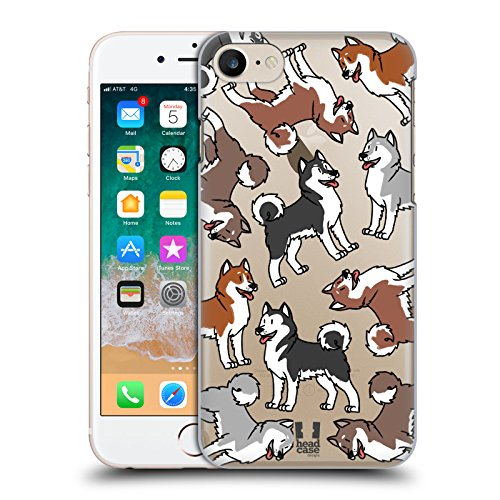 Alaskan Malamute Dog Breed - Head Case Designs Alaskan Malamute Dog Breed Patterns 6 Hard Back Case Compatible for iPhone 7 / iPhone 8