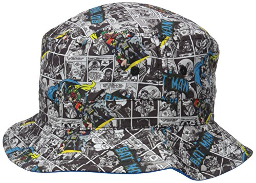 - DC Comics Boys' Batman All Over Print to Solid Reversible Bucket Hat, Blue, One Size