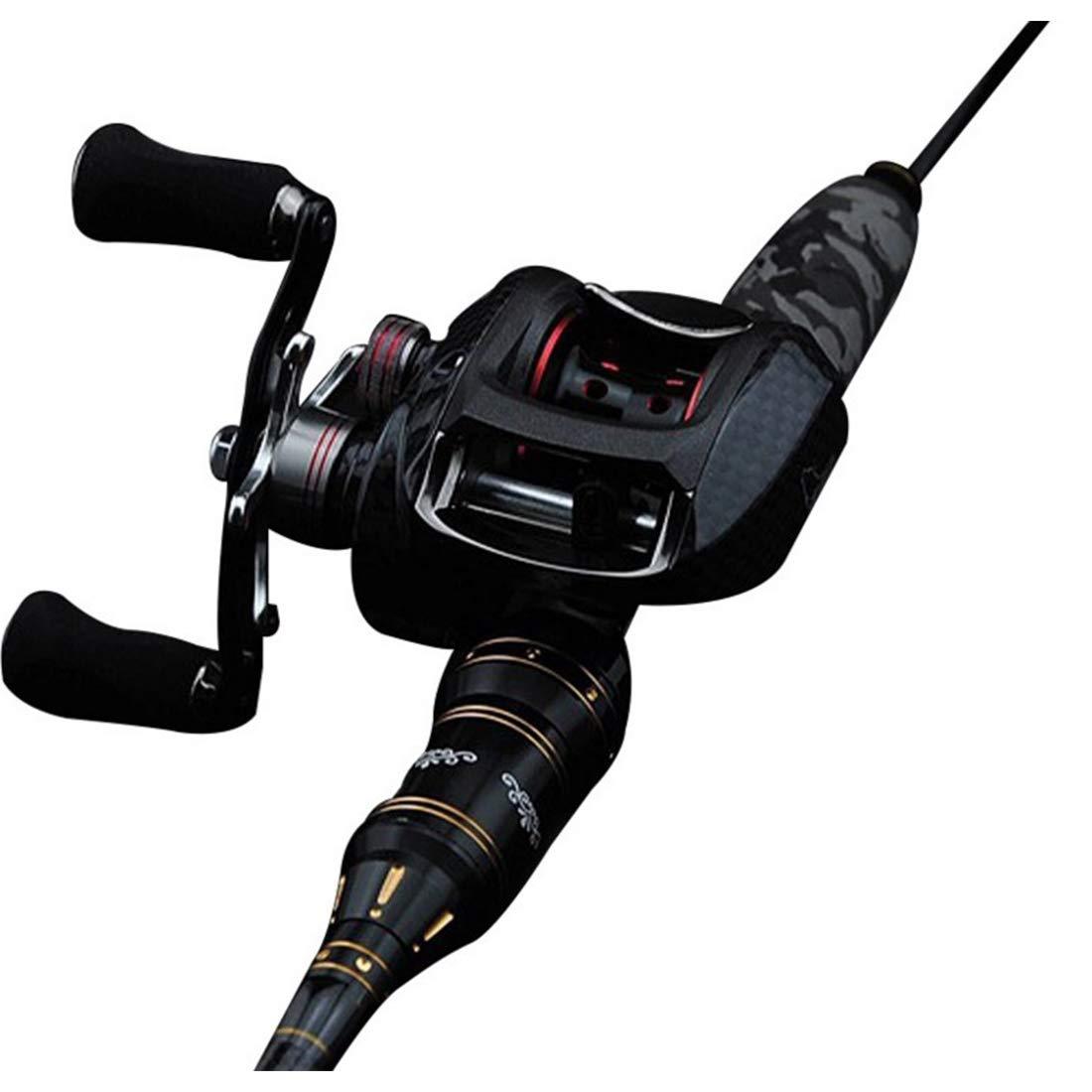 荒波が百貨店を使う 釣りタックルセットスピニングロッドリールコンボラインは、海の塩水淡水ボート釣りのためのフックトラベルバッグ、完全なフルセット(2.1M / 2.4M)を完了します。 2.1m Gun handle B07Q82N7K2