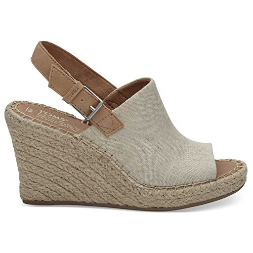 TOMS Natural Oxford Women's Monica Wedges (Size: 8.5)