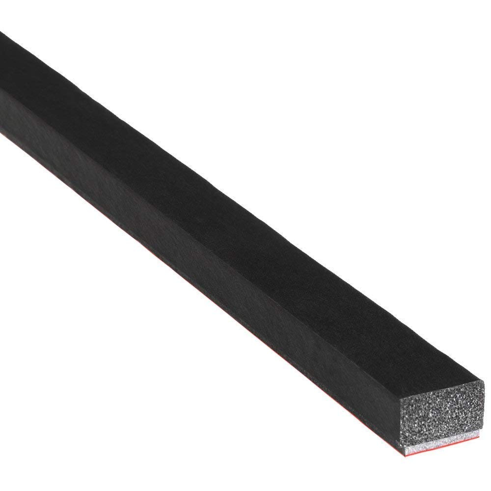 M M SEALS A060-100F Sponge Rubber Seal Solid with Self Adhesive 25/64'' Height X 19/32'' Width | Universal weatherstrip Extrusion Neoprene Strip (100 Feet) by M M SEALS